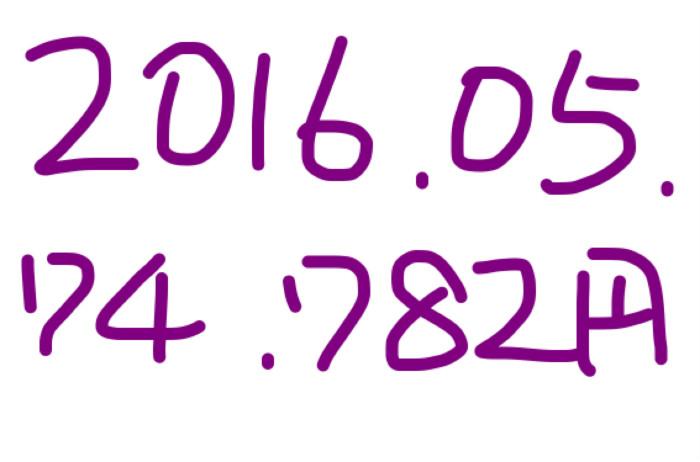 2016年5月のアフィリエイト報酬は「74,782円」先月より1万円UPした◎