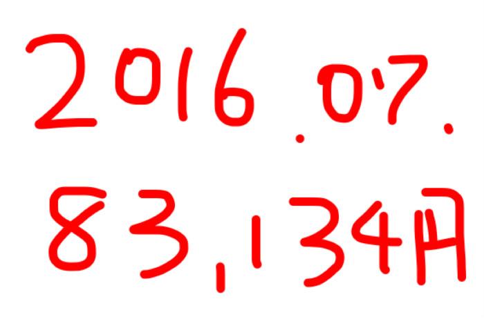 2016年7月のアフィリエイト報酬は「83,134円」!外注作業が中心。