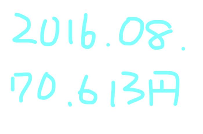 2016年8月のアフィリエイト報酬は「70,613円」。アドセンスが下がった。。