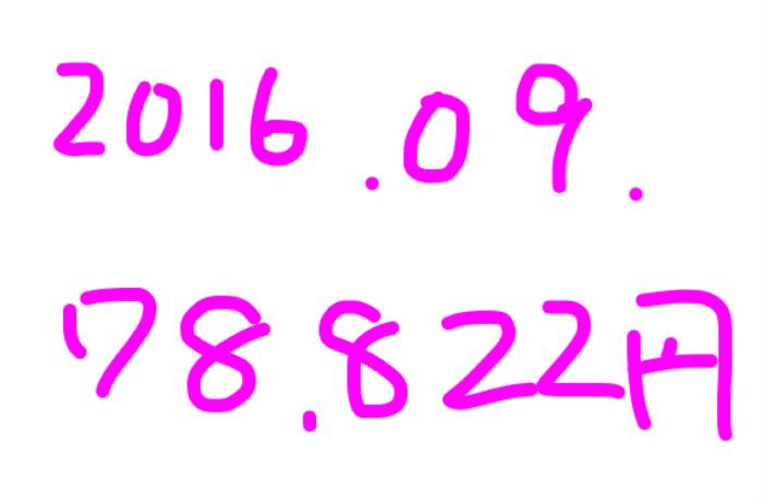 2016年9月のアフィリエイト報酬は「78,822円」。アドセンス復活兆候☆
