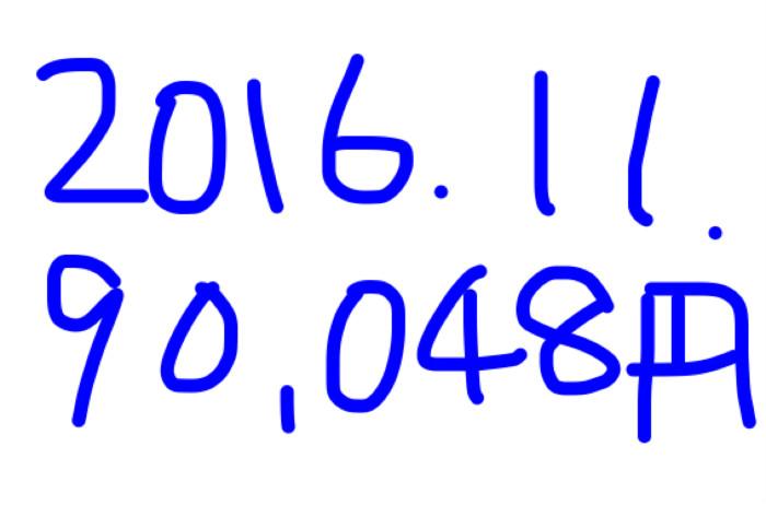 2016年11月のアフィリエイト報酬は「90,048円」。半月も遊んでたのにね♪
