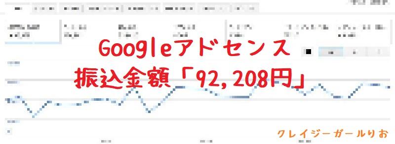 クレイジーガールりおアフィリエイト実績2018年2月グーグルアドセンス1
